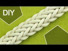 ▶ How to Make a 7-Strand Double Braid - YouTube