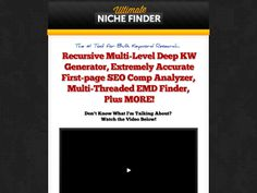 ① The Ultimate Niche Finder - http://www.vnulab.be/lab-review/%e2%91%a0-the-ultimate-niche-finder