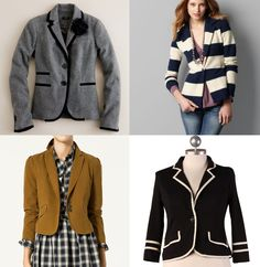 Blazers. I need more jackets (minus the striped one).