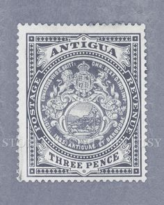 Antigua Vintage Postal Stamp Poster 8x10 Instant Download .JPG (011) via Etsy