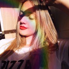 Selfie com arco-íris   Selfie with rainbow via Instagram @eribomfim