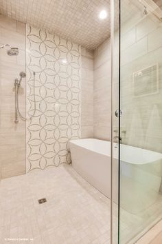 A Soaking Bathtub Is Located Within The Over Sized Walk In Shower! The