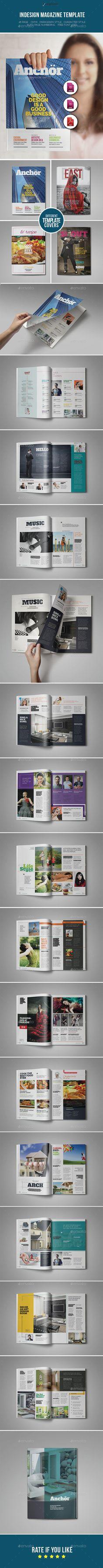 Health Magazine Template InDesign A4 | Best Magazine Templates ...