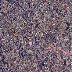 7. The medina quarter in Marrakesh, Morocco | These Satellite Photos Will Make You Feel Freakishly Small