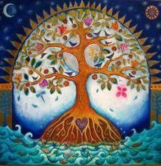 Super tattoo tree of life mandala pictures Ideas Tree Of Life Artwork, Tree Of Life Painting, Tree Art, Moon Painting, Oeuvre D'art, Pagan, Illustration, Folk Art, Spirituality