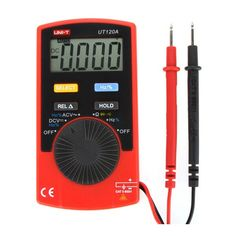 UNI-T UT120A Super Slim Meter Pocket Handheld Digital Multimeter DC/AC Voltage Resistance Frequency Tester