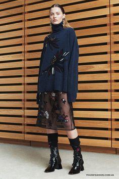 Полупрозрачная юбка с цветочной вышивкой