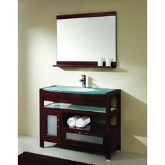 @Overstock - Transform your bathroom into an oasis with a new vanity setMaster cabinet is made of solid wood with a heat-tempered glass countertopBathroom furniture is a complete way to add contemporary flair to any homehttp://www.overstock.com/Home-Garden/Design-Element-Solid-Wood-Bathroom-Vanity-Set/3928999/product.html?CID=214117 $928.99