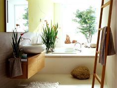 Minimalistisches badezimmer schwarz wei great pinterest madrid - Living at home badezimmer ...