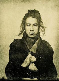 Daguerreotype - Unknown Japanese man, 19th century.  His face is actually quite beautiful, in its own way...
