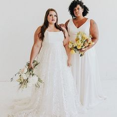 Modern and romantic plus size wedding dresses. Street sizing with slight modifications and additional support for sizes 16 and up. NO SIZE UPCHARGE! Romantic Wedding Inspiration, Curvy Bride, Wedding Dress Shopping, Plus Size Wedding, Bridesmaid Dresses, Wedding Dresses, Wedding Looks, Bridal Style, Wedding Styles
