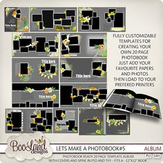 Lets Make A Photo Book Templates {Album}  #digiscrap #theStudio