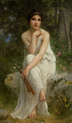 Charles Amable Lenoir (1860-1926) - The Flute Player