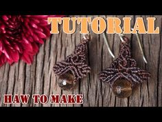 How to make macrame earrings tutorial. DIY macrame earrings#2 - YouTube