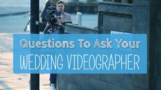 Questions To Ask Your Wedding Videographer Having a videographer along with a wedding photographer is more and more common these days. The beautiful photos are a wonderful thing to remember your most beautiful day. But a great movie is something complete different to show your friends and family and to indulge in memories a few […] Questions To Ask Your Wedding Videographer Questions To Ask, This Or That Questions, Great Movies, Wonderful Things, Beautiful Day, Big Day, Memories, Friends, Photos