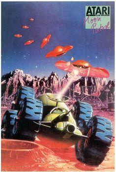 Atari Moon Patrol Poster #gaming #poster #moonpatrol #atari