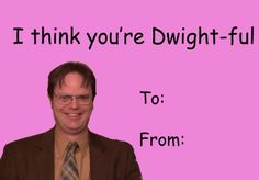 the office valentines day card