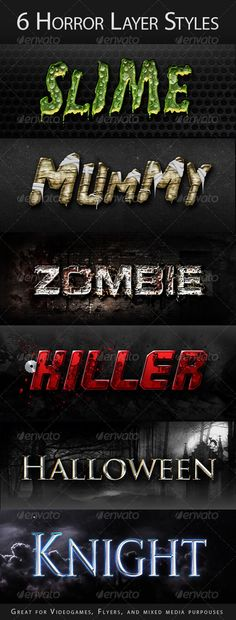 Horror Halloween Creepy Layer Styles Text Effects