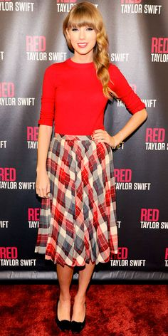 Look of the Day - October 27, 2012 - Taylor Swift from #InStyle