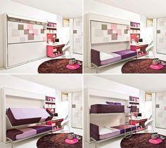 Taí uma ótima ideia de otimização de espaço para o quarto dos seus filhos! ;)