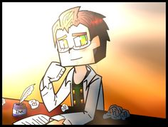 Minecraft Story Mode: Aiden The Writer by PrettyXTheXArtist on DeviantArt<< I thought it was funny that he wanted to be writer, because I'M actually a writer, lol! maybe he'll write the whole story of MC:SM.