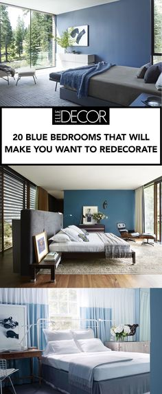Although blue can be a difficult color to decorate a room with, we've gathered 20 gorgeous rooms for your inspiration.