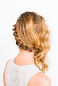 DIY side swept braid