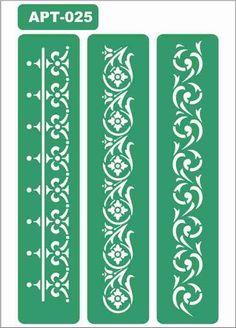 Sablon adeziv A5 Stencil Patterns, Doodle Patterns, Stencil Designs, Tattoo Stencils, Stencil Painting, Stenciling, Border Design, Pattern Design, Motif Arabesque