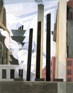 Charles Demuth (American 1883–1935) [Precisionism] End of the Parade, Coatesville, Pa., 1920.