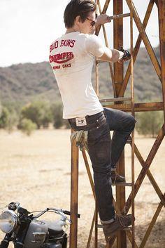 ojai, california denim workwear selvedge jeans wax canvas leather