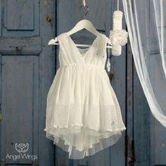 Βαπτιστικό Εκρού Φόρεμα Athina | Angel Wings 072 Girls Dresses, Flower Girl Dresses, Baby Christening, Angel Wings, Girl Outfits, White Dress, Wedding Dresses, Clothes, Fashion