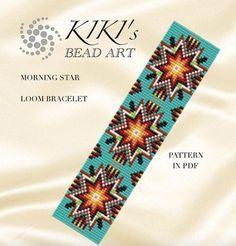 Bead loom pattern - Morning star - LOOM bracelet PDF pattern instant download