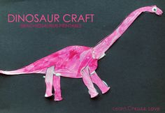 Printable Dinosaur Craft from http://learncreatelove.com