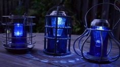 Blue Glass projects for the garden- Solar Power