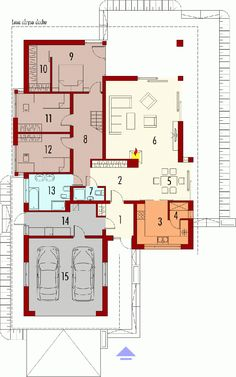 Bungalow with attic to adapt, basement and a garage for two cars – Amazing Architecture Magazine Duplex House Plans, Modern House Plans, Small House Plans, The Plan, How To Plan, Detail Architecture, Amazing Architecture, One Storey House, Beautiful House Plans