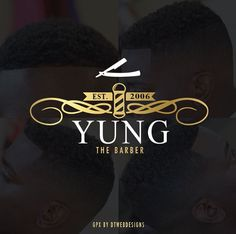 Young the Barber Logo created by DT Webdesigns