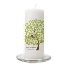 Hochzeitskerzen & Beleuchtung - Hochzeitskerze 'Bird Tree' - ein Designerstück von in-due bei DaWanda