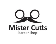 The scissors... the 'tache... Duplicity within the logo adds depth. Great stuff!