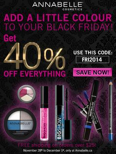 Who says you have to leave your home today to SHOP? Check our #BLACKFRIDAY Sale! > www.Annabelle.ca #vendredifou Say You, Kohls, Black Friday, Promotion, Eyeshadow, Coding, Ads, Cosmetics, Sayings