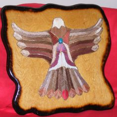 Designs in Wood and String - 2008 New String Art Thunderbird, White Wolf, Buffaloand Hummingbird