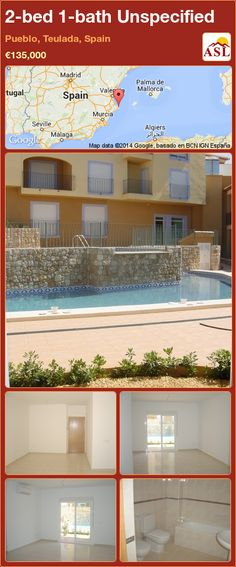 Unspecified for Sale in Pueblo, Teulada, Spain with 2 bedrooms, 1 bathroom - A Spanish Life Murcia, Air Conditioning Units, Main Entrance, Apartments For Sale, Double Bedroom, Train Station, Ground Floor, Ibiza, Property For Sale