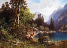 пейзажи горных рек и озер в живописи масло: 12 тыс изображений найдено в Яндекс.Картинках