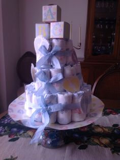 Baby shower torta de pañales
