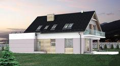 DOM.PL™ - Projekt domu HG-I22 CE - DOM AL1-92 - gotowy koszt budowy House Layout Plans, Dream House Plans, House Layouts, Garage Doors, Mansions, House Styles, Outdoor Decor, Design, Plane