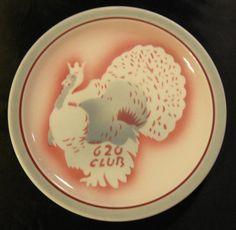 "SYRACUSE CHINA ""TURKEY IS KING"" 620 CLUB Minn MN Airbrush Plate Restaurant Ware"