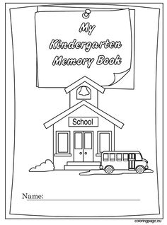 end of school year memory book coloring page school pinterest memory books. Black Bedroom Furniture Sets. Home Design Ideas