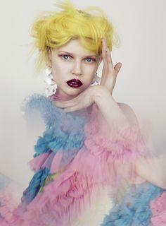 Publication: Stylist UK Spring/Summer 2017  Model: Ola Rudnicka  Photographer: Elena Rendina  Fashion Editor: Koulla Sergi  Hair: Ken O'Rourke  Make Up: Val Garland