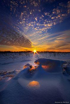Winter Snow Sunset ~ Wisconsin
