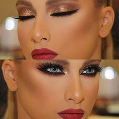 Easy make-up design - image Glam Makeup, Flawless Makeup, Gorgeous Makeup, Love Makeup, Makeup Looks, Hair Makeup, Bronze Makeup, Green Makeup, Beauty Make-up