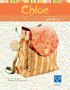Gorgeous chloe back pack.. free downloadable pattern